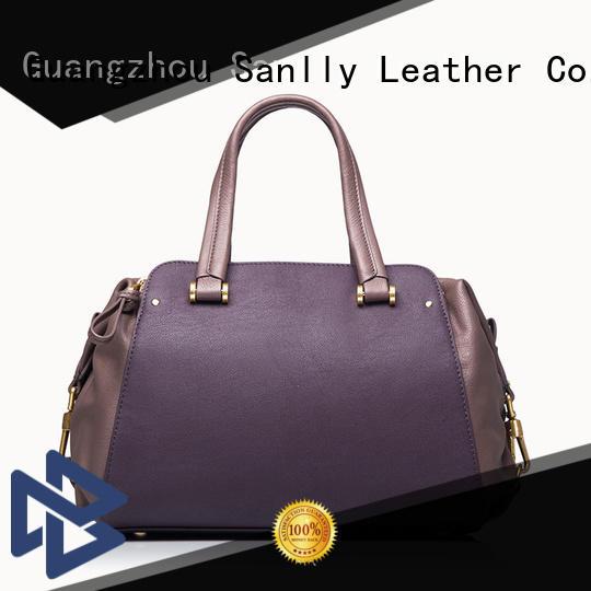 Sanlly latest women's leather handbags ODM