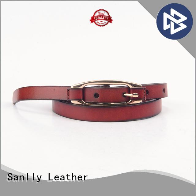 Sanlly punk black dress belt manufacturers for men