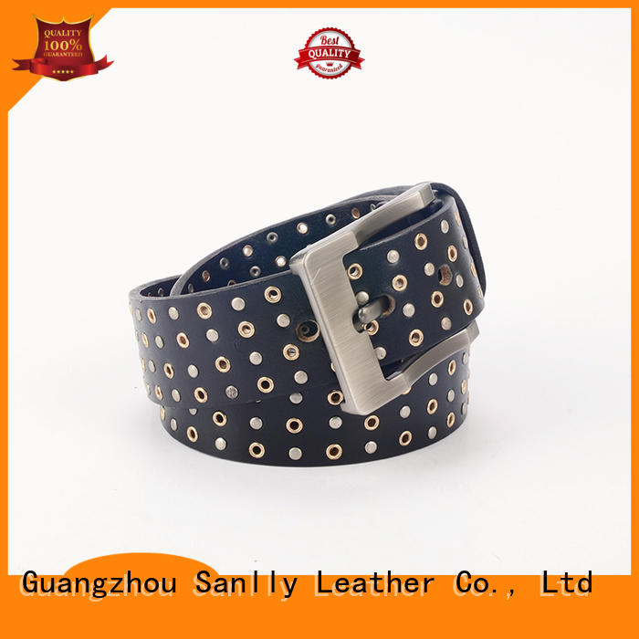 Sanlly Breathable men's leather belts customization for modern men