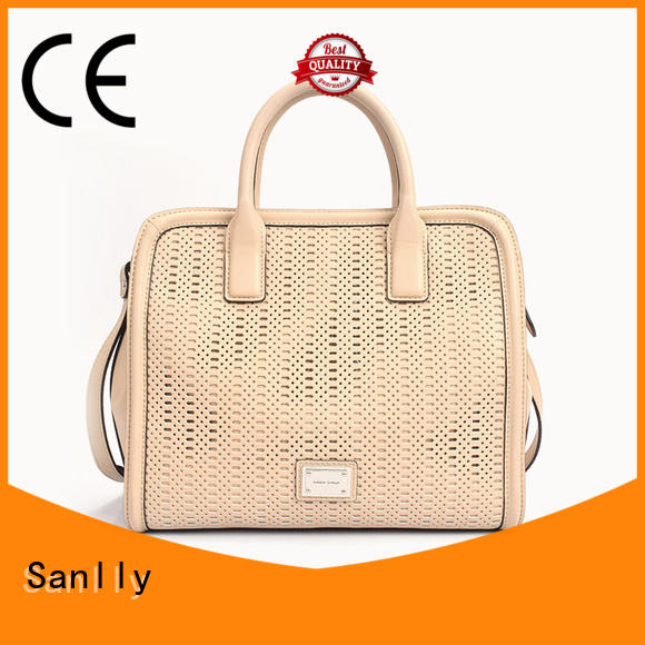 Sanlly soft real leather handbags get quote for girls