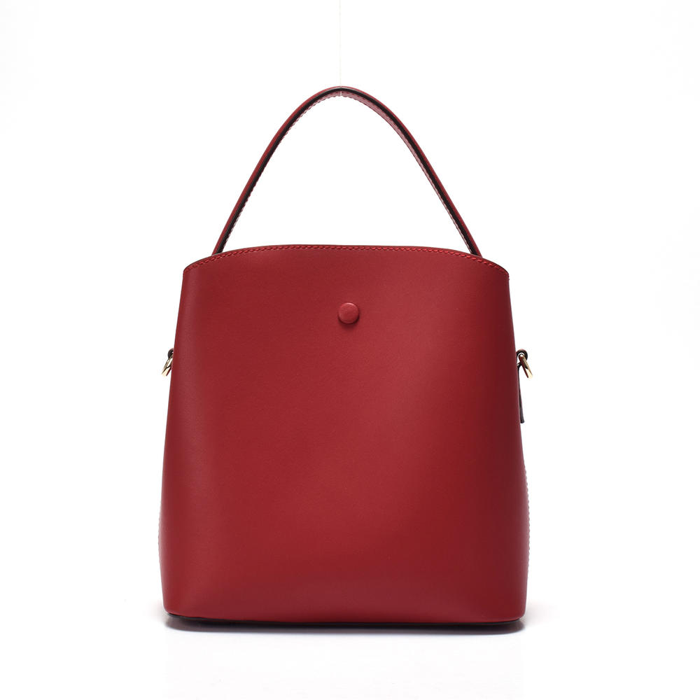 Single shoulder handbag/ leather bucket bag