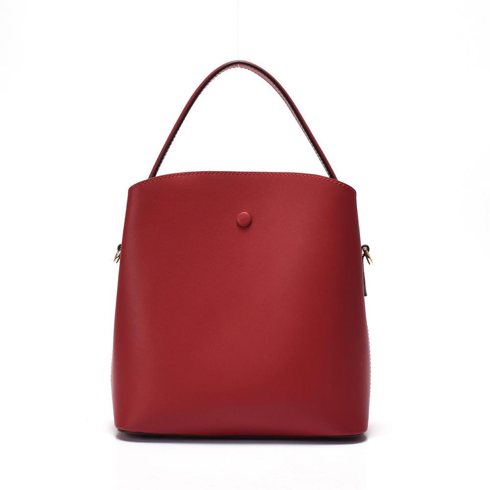 Single shoulder handbag/ leather bucket bag
