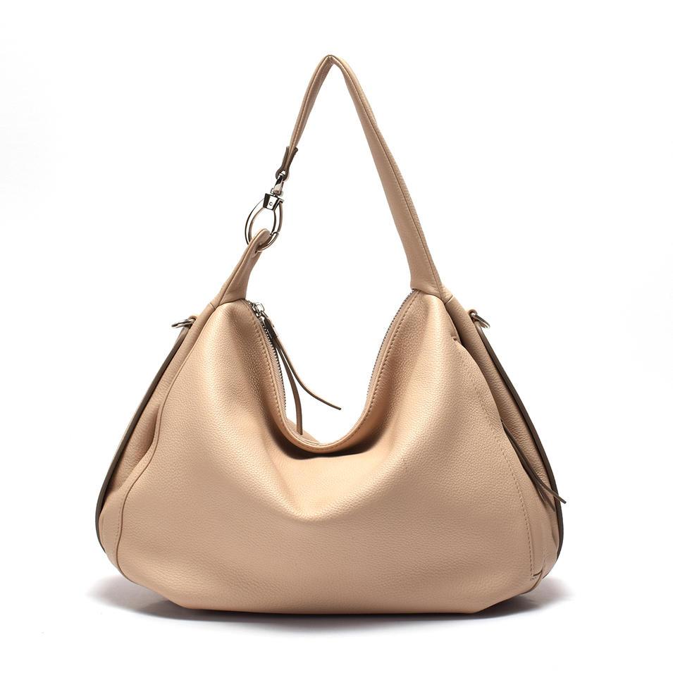 Leather Hobo for Ladies /Detachable buckle shoulder bag
