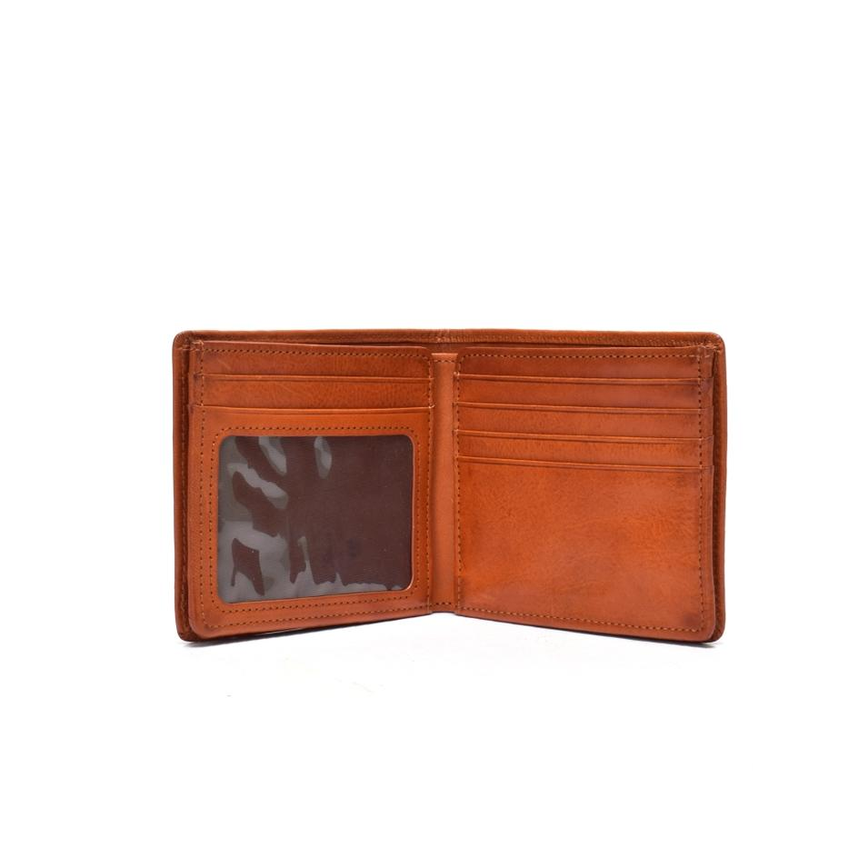 High Quality men's wallet  double fold wallet in leather Men's leather wallet