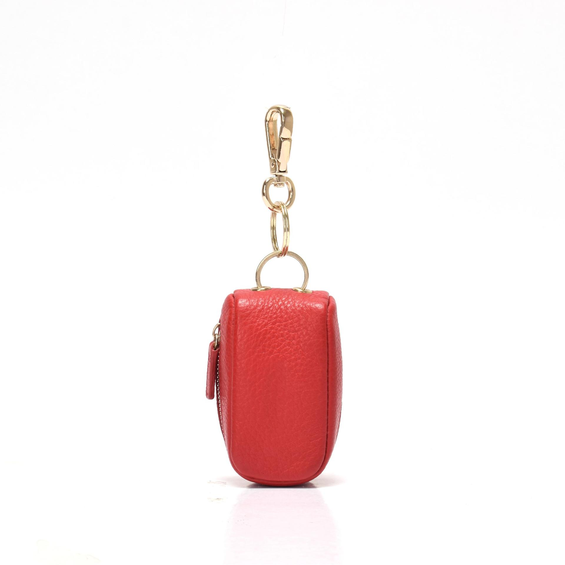 Leather keyfob for women  metal keyring bag