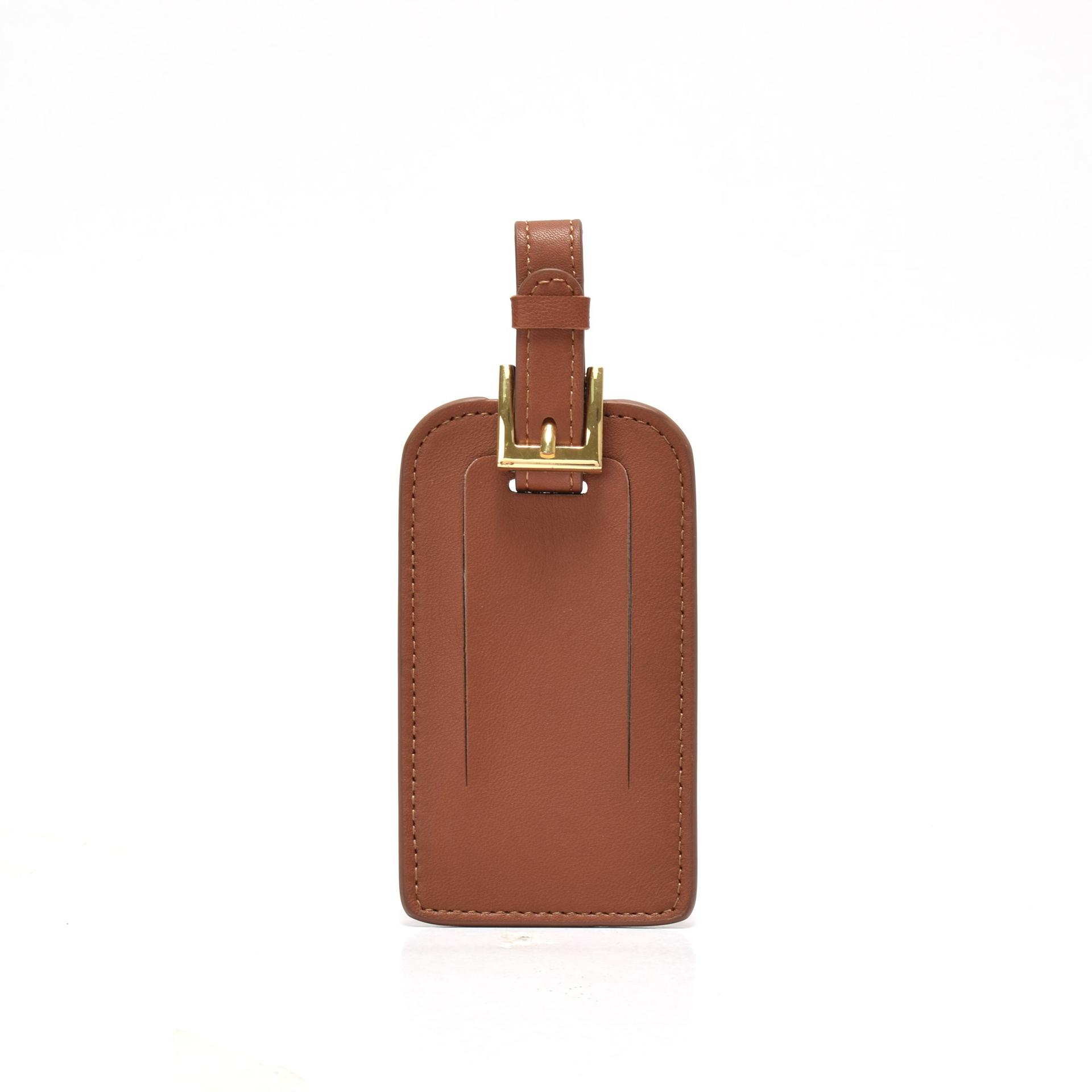 Women's luggage tag in leather  leahter luggage tag for women