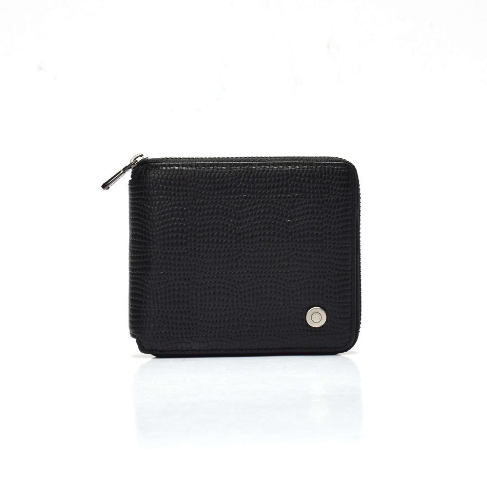 Square wallet for women  Lizard leather wallet  zipped wallet