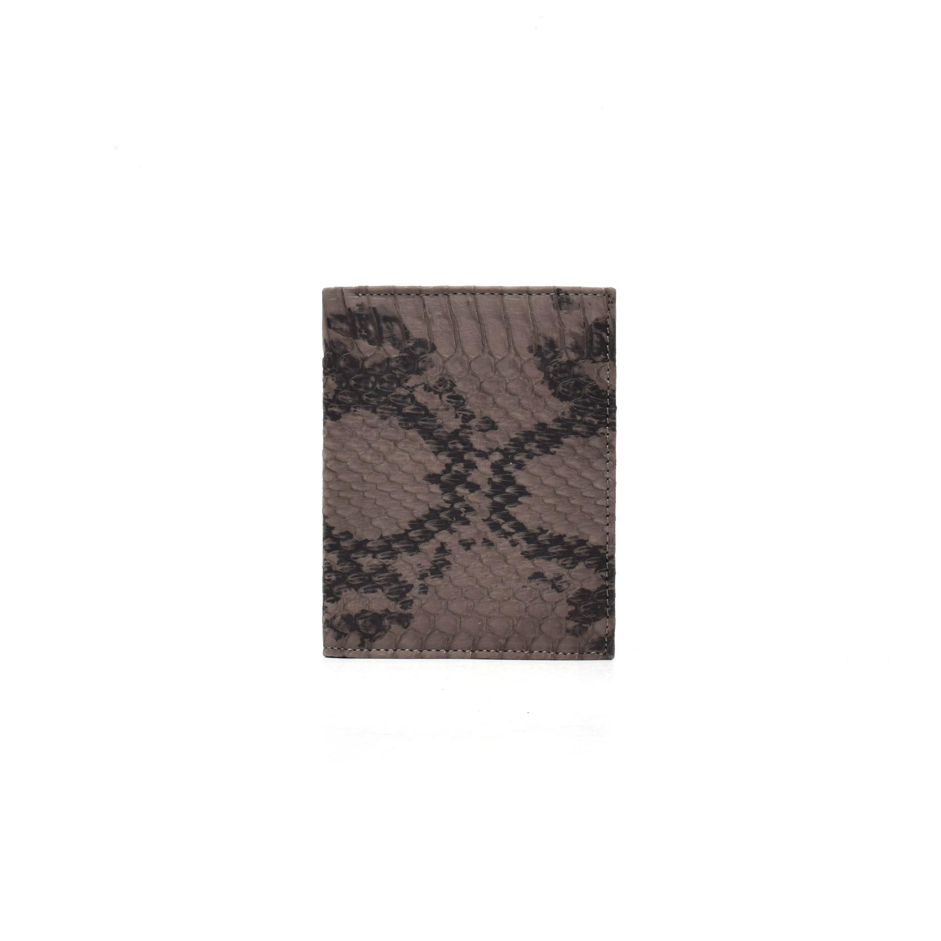Leather bill folder mini women's wallet python wallet in leather