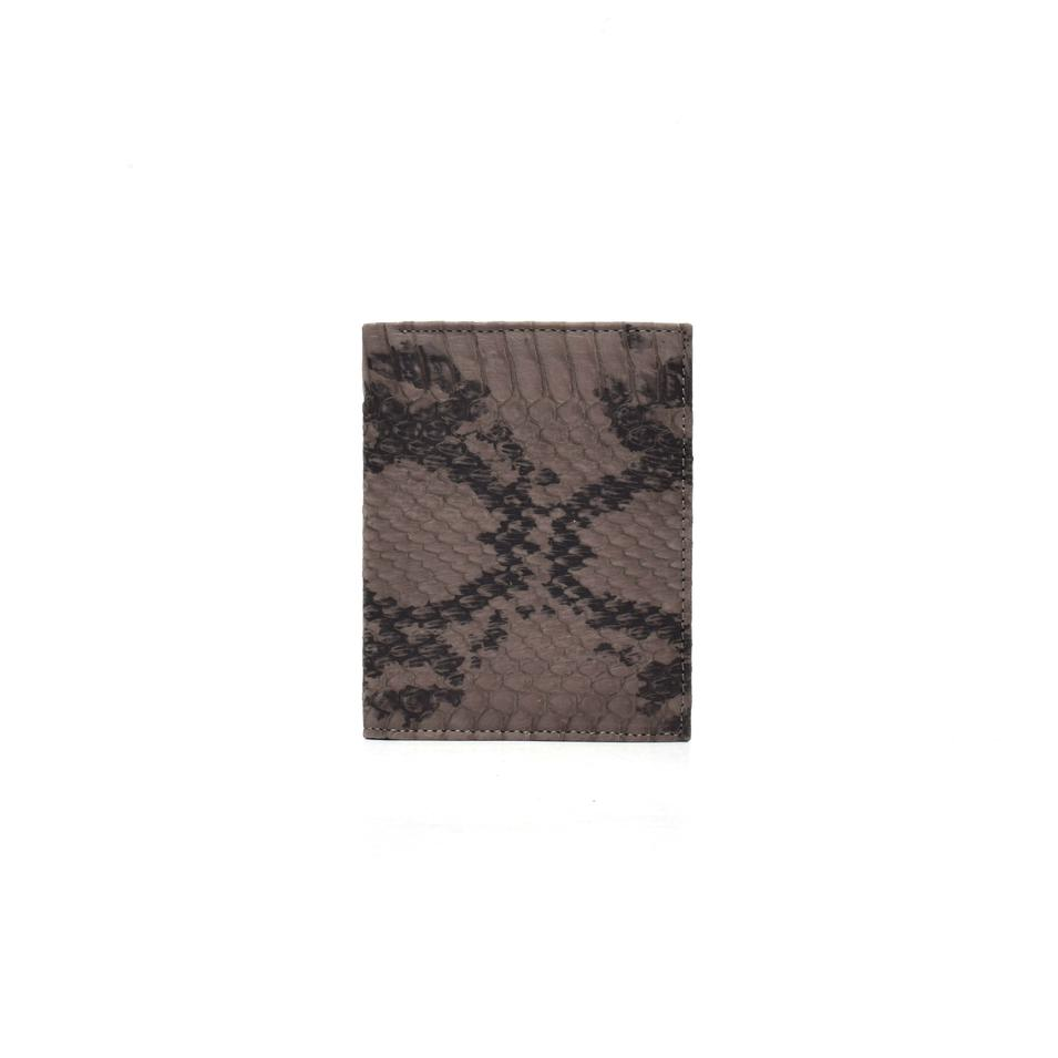 Leather bill folder mini women's wallet python wallet in leather