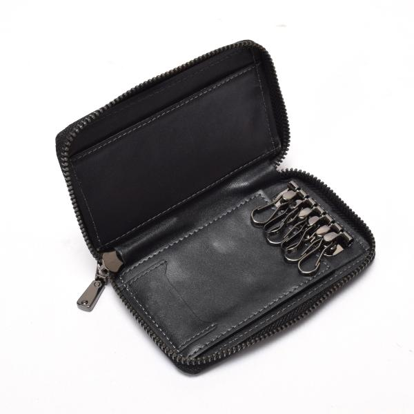 Zip wallet for women in lether  keyring wallet in leather